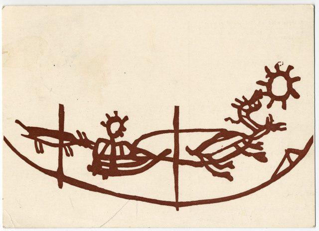 Illustrasjon: Ernst Manker, postkort Kierulfsamlingen, Tromsø Universitetsmuseum