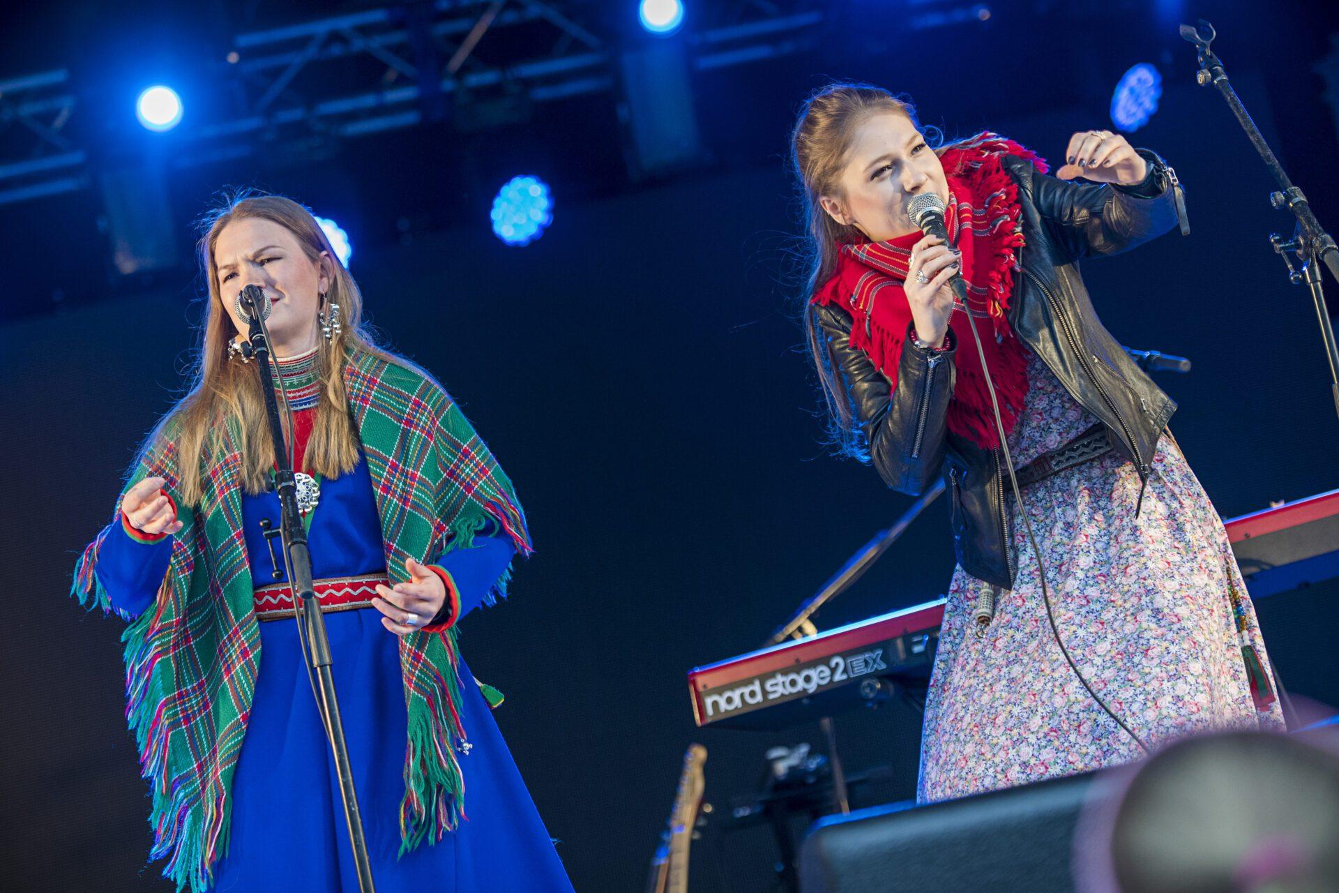 Marja Mortensson og Katarina Barruk