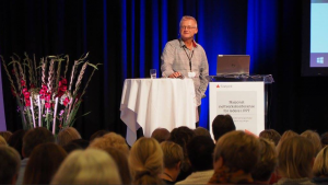 Øystein Lund presenterte den nye nettressursen for PP-tjenesten.